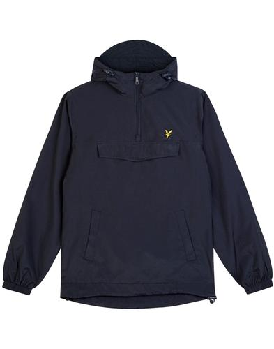 lyle and scott retro indie overhead jacket navy