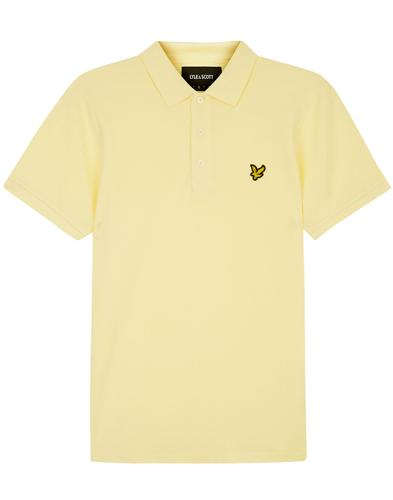 lyle and scott mod pique polo shirt buttercream