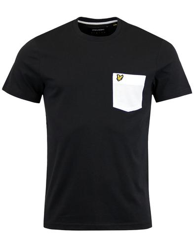 LYLE & SCOTT Retro Mod Contrast Pocket T-Shirt (B)