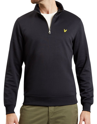 LYLE & SCOTT Retro 70s Tricot Quarter Zip Top (B)