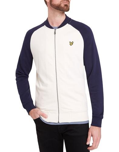 lyle and scott retro 1970s raglan bomber track top