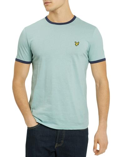 LYLE & SCOTT Retro Ringer T-Shirt (Powder Blue)