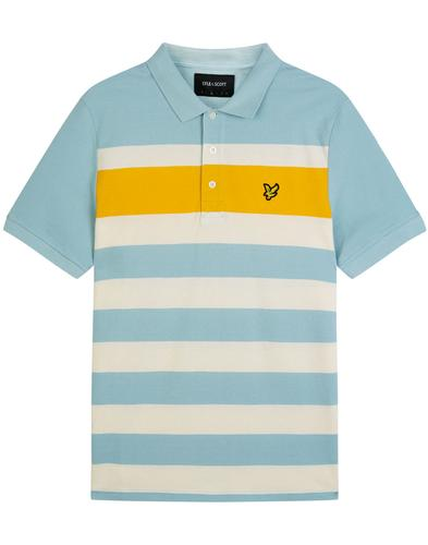 LYLE & SCOTT Mod Textured Stripe Panel Polo Shirt