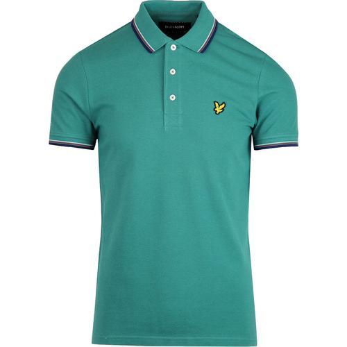 atom retro mod clothing, retro clothes for men \u0026 women  lyle and scott tri tipped pique mod polo alpine green