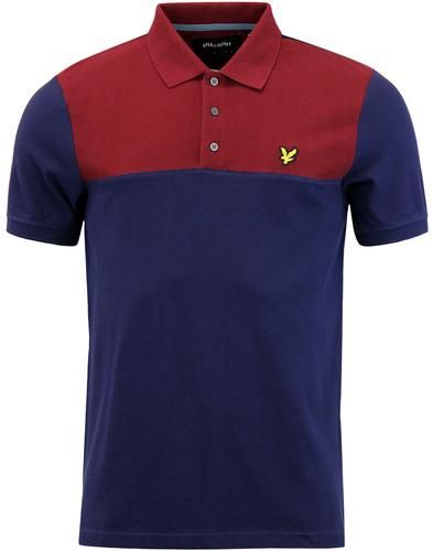 LYLE & SCOTT Retro Yoke Panel Pique Polo Shirt N