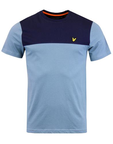 LYLE & SCOTT Retro Mod Contrast Yoke T-shirt MIST