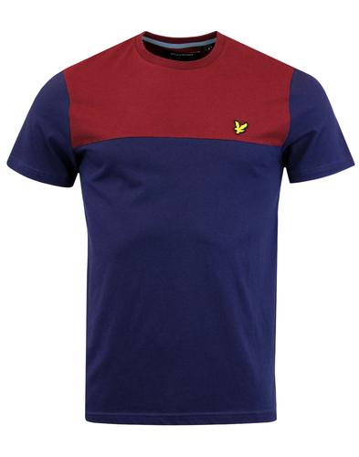 LYLE & SCOTT Retro Mod Contrast Yoke T-shirt NAVY