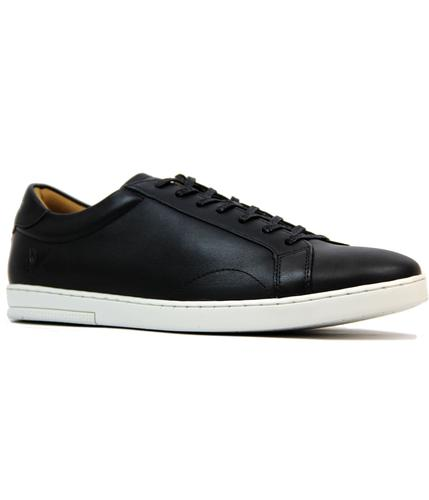 Findon LYLE & SCOTT Retro Leather Tennis Trainers
