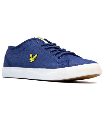 Teviot Denim LYLE & SCOTT Retro Tennis Trainers