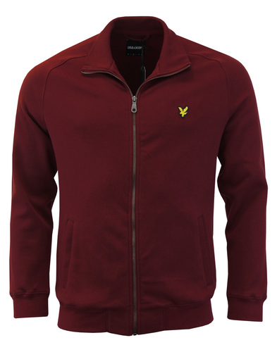 LYLE & SCOTT Retro 70s Funnel Neck Zip Track Top