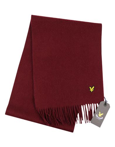 Lyle & Scott Mens Plain Lambswool Scarf CLARET JUG