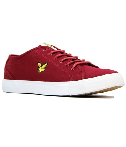 Teviot Twill LYLE & SCOTT Retro Tennis Trainers