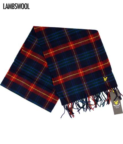 LYLE AND SCOTT Woven Retro Lambswool Tartan Scarf