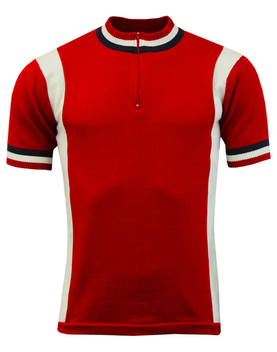 Hi-Wheel MADCAP ENGLAND Retro Mod Cycling Top RED