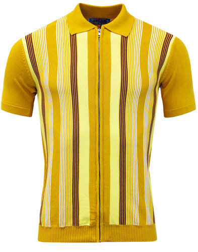Capitol MADCAP ENGLAND Mod Zip Through Stripe Polo