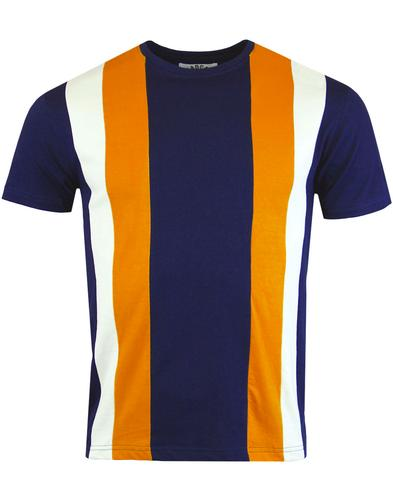 madcap england afterglow centre stripe tee navy