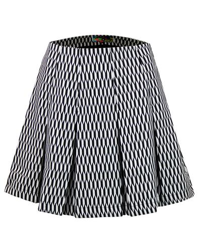 Ace MADCAP ENGLAND Mod Op Art Pleated Tennis Skirt