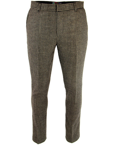 Dylan MADCAP ENGLAND 1960s Mod Dogtooth Trousers