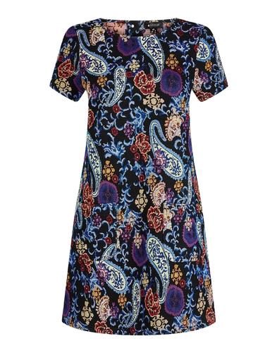 Ella BRIGHT & BEAUTIFUL Retro Paisley Mod Dress