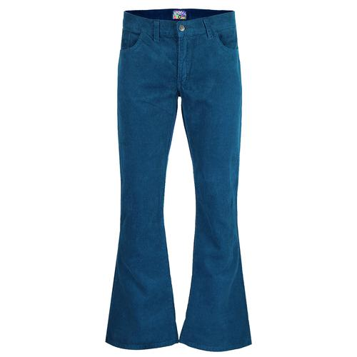 ec2544c596fd Madcap England Killer Men s Retro 1970s Cord Flares in Ink Blue