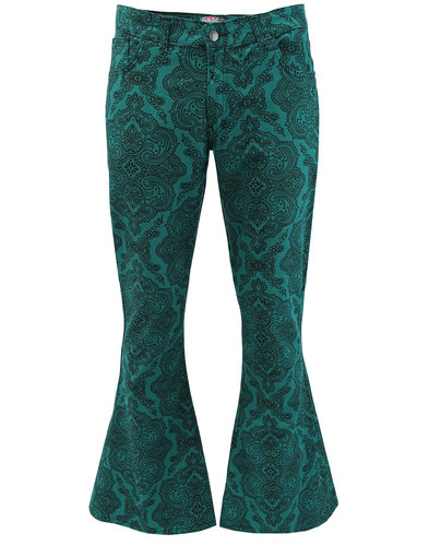 Paisley Rave Twill MADCAP ENGLAND 70s Bellbottoms