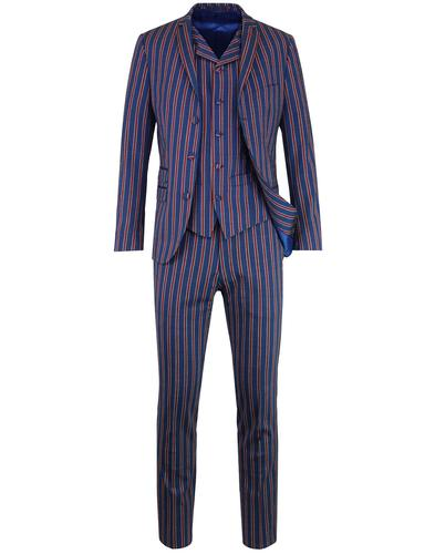 MADCAP ENGLAND Mod 3 Button Regatta Stripe Suit