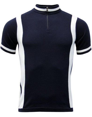 Vitesse MADCAP ENGLAND Retro Mod Cycling Top NAVY