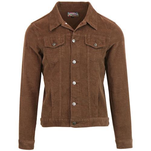 e2012292e2f Madcap England Woburn Retro Mod Cord Western Jacket in Cocoa Brown