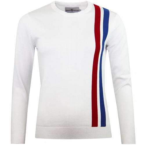 a5a3cf4fd Madcap England Women s Retro Mod Racing Jumper in White