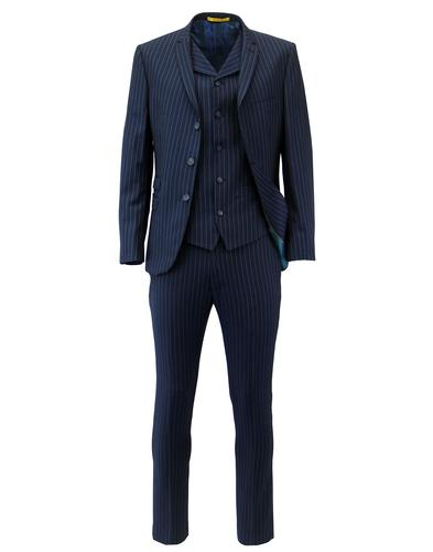 Madcap Retro Mod 3 Button Electric Pinstripe Suit