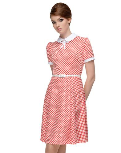 MARMALADE Retro 60s A-Line Polka Dot Mod Dress