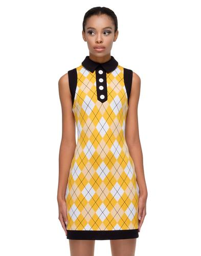 MARMALADE Retro 60s Argyle Mod Summer Dress
