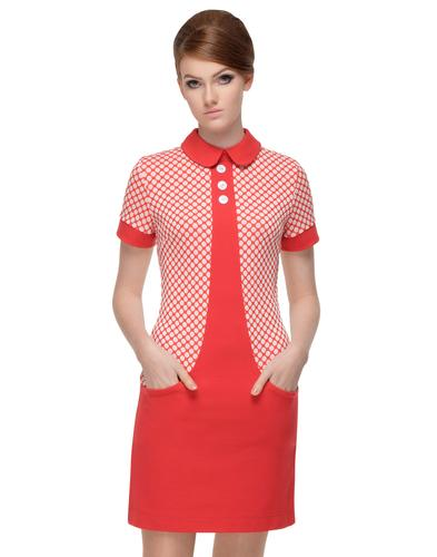 MARMALADE Retro 60s Mod Polka Dot Pocket Dress