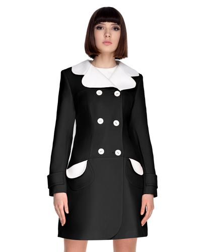 Marmalade Retro Mod 60s Autumn Coat Black