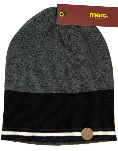 Cuxwold MERC Retro 1970s Colour Block Beanie Hat