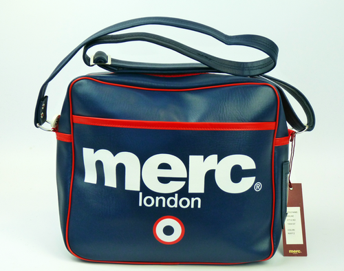 c7837262b8 MERC Airline Retro Mod Northern Soul Flight Bag Navy