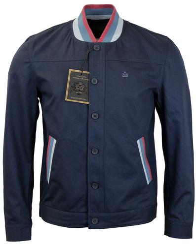 Buckroe MERC Retro Mod Stripe Trim Coaches Jacket