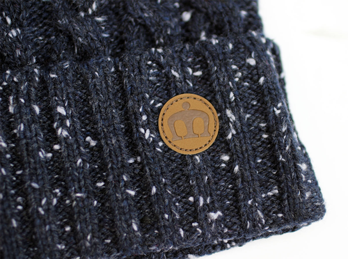 Rothstein MERC Retro 70s Cable Knit Bobble Hat N