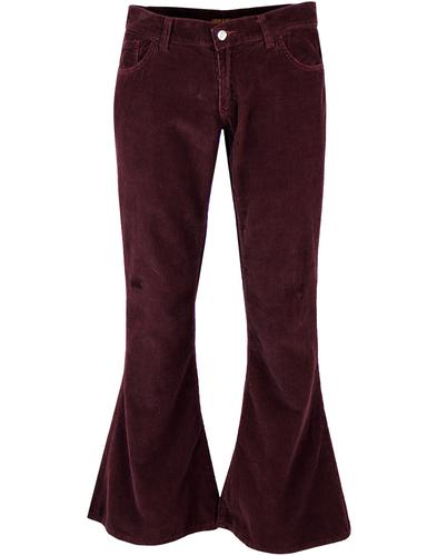 Merlot Flares Retro Sixties Seventies Flared Cords