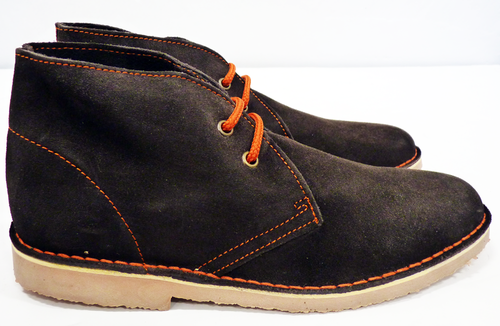 Polly Retro Mod Suede Contrast Lace Desert Boots B