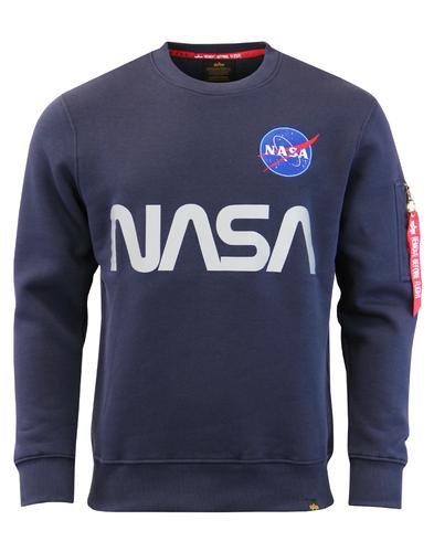 ALPHA INDUSTRIES NASA Reflective Retro Sweatshirt
