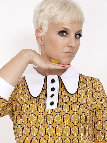 Nathalie MADEMOISELLE YEYE Retro 60s Mod Dress (Y)