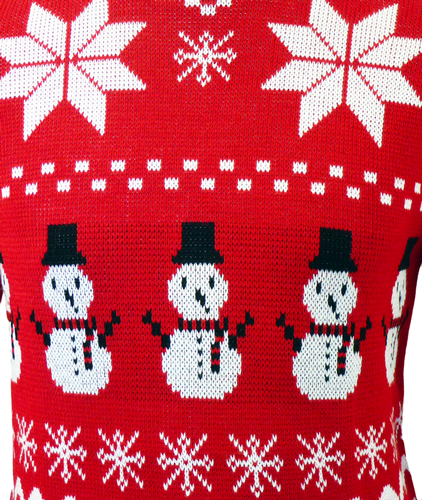 Chance of Snow - Retro 70s Indie Christmas Jumper