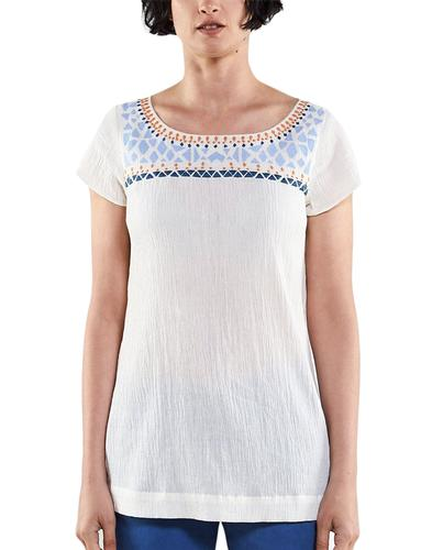 NOMADS Womens Retro Boho Embroidered Long Top