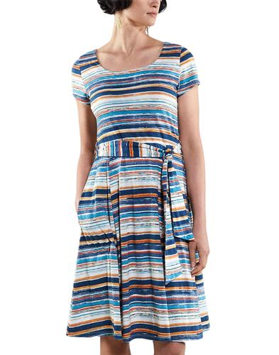 NOMADS Retro 70s Striped Flared Summer Dress