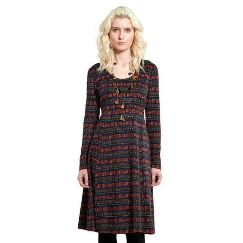 8a6b7839498a6 Nomads Retro Tile Print 70s Dress Sienna
