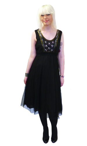 Helena NOMADS Vintage Sequin Ballerina Party Dress