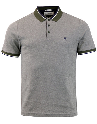 ORIGINAL PENGUIN Retro Birdseye Tri-Colour Polo