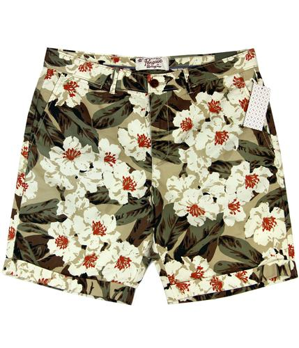 ORIGINAL PENGUIN Flora Retro Print Summer Shorts