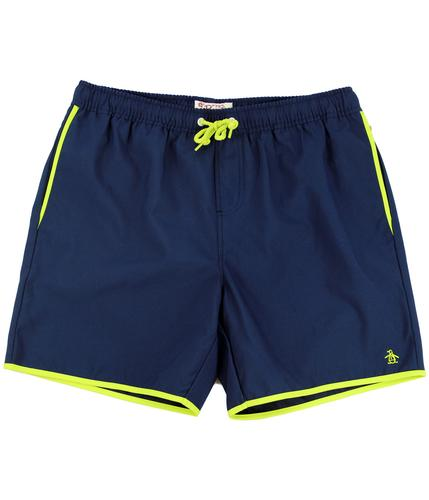 Earl ORIGINAL PENGUIN Retro 70s Piped Swim Shorts